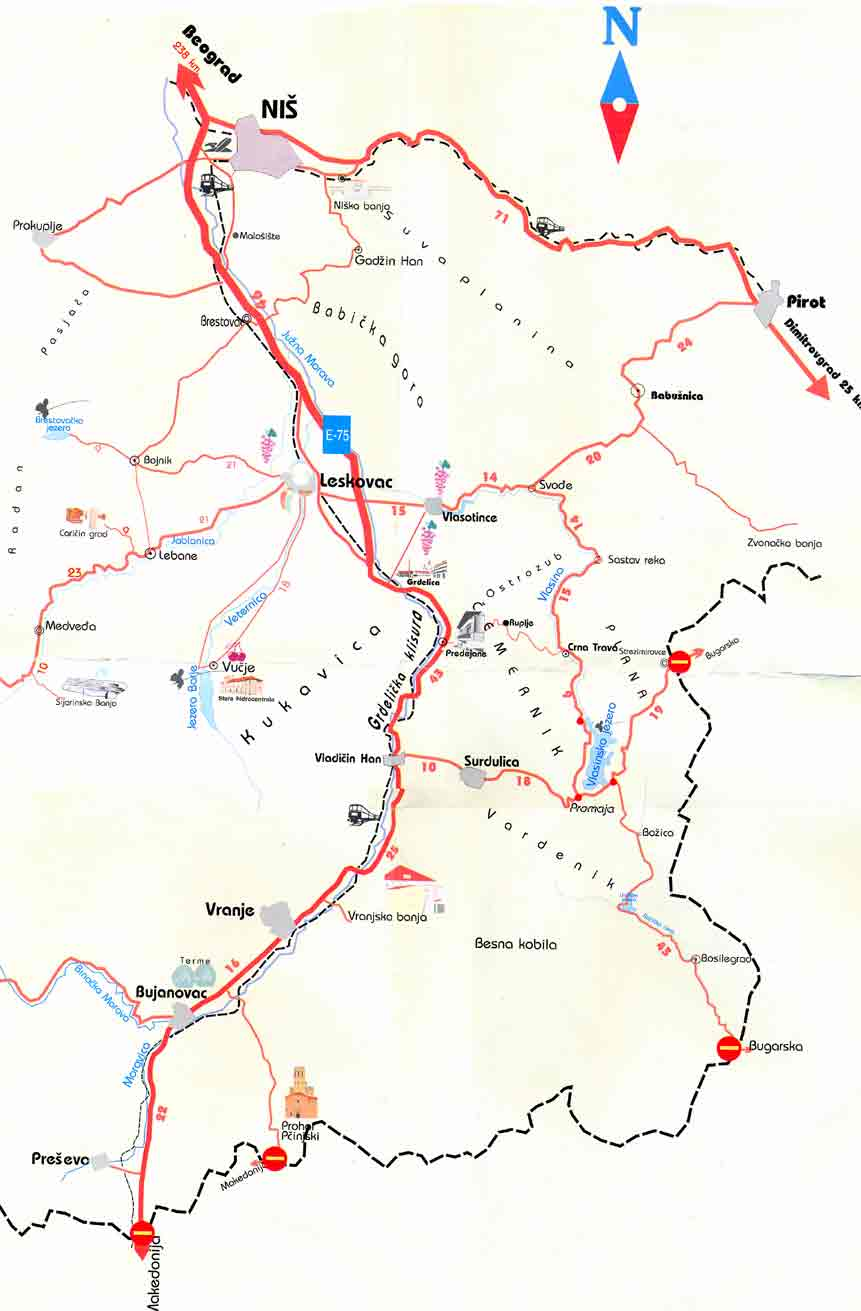 vlasinsko jezero mapa Vlasinsko jezero :: geografski polozaj vlasinsko jezero mapa